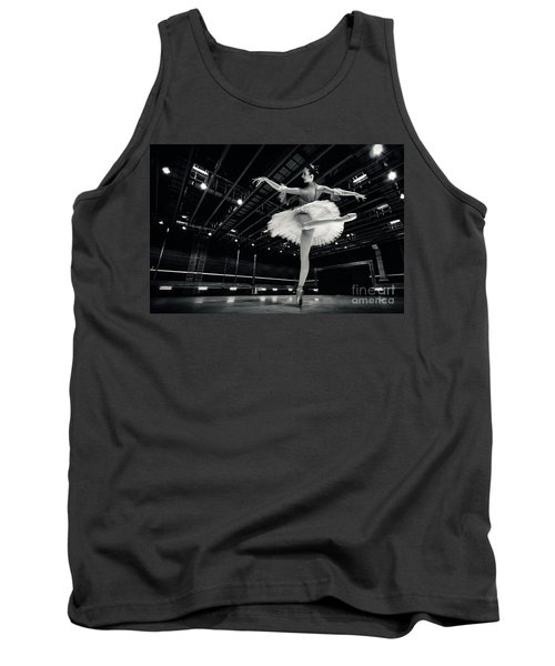 Tank Top featuring the photograph Ballerina In The White Tutu by Dimitar Hristov