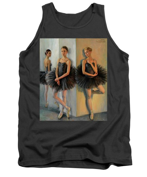 Ballerinas In Black Tutu Tank Top