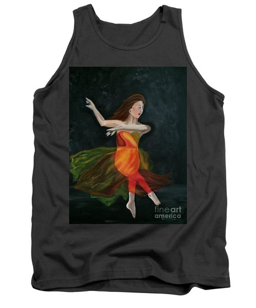Tank Top featuring the painting Ballet Dancer 2 by Brindha Naveen