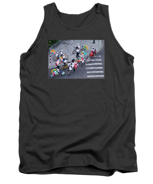Tank Top featuring the photograph Balloons And Bikes by Cameron Wood