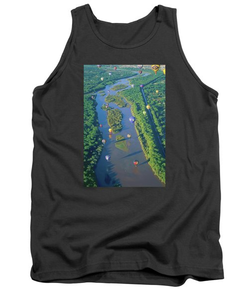 Balloons Over The Rio Grande Tank Top by Alan Toepfer