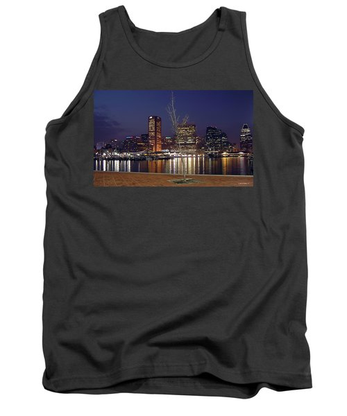 Tank Top featuring the photograph Baltimore Reflections by Brian Wallace