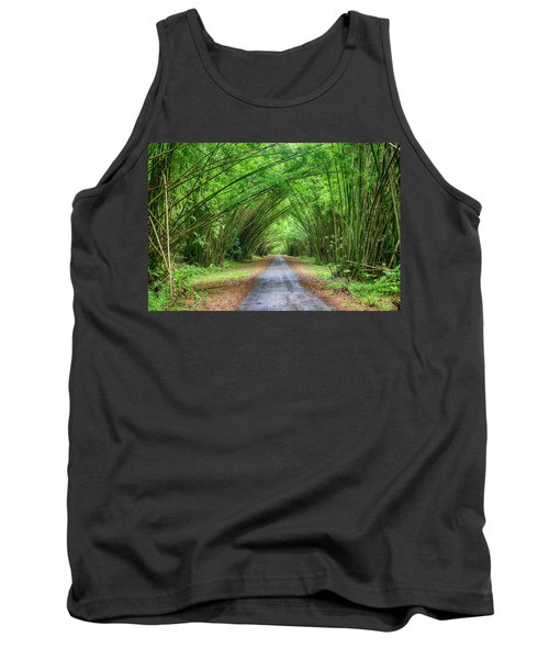 Tank Top featuring the photograph Bamboo Cathedral Trinidad by Rachel Lee Young