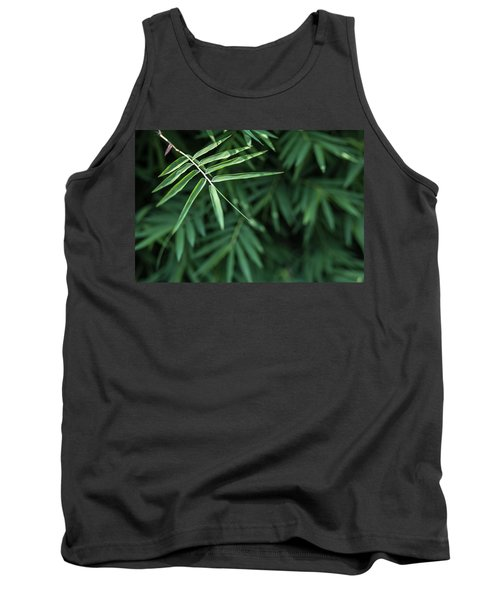 Bamboo Leaves Background Tank Top
