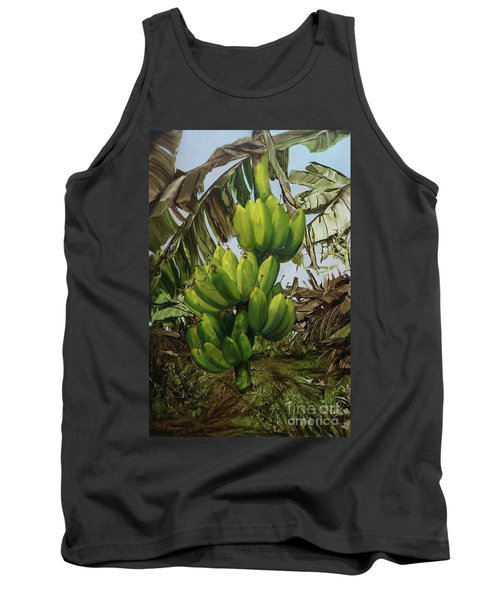 Tank Top featuring the painting Banana Tree by Chonkhet Phanwichien