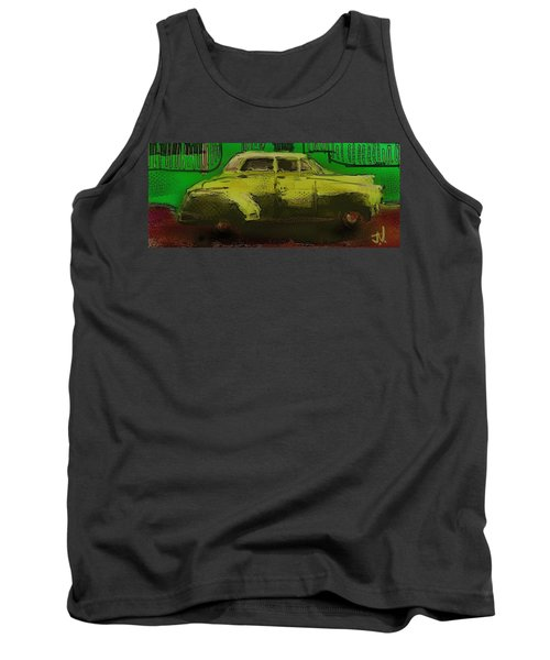 Tank Top featuring the painting Banana Yellow by Jim Vance