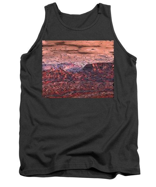 Banded Canyon Abstract Tank Top