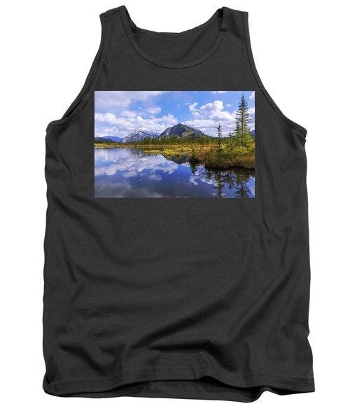 Tank Top featuring the photograph Banff Reflection by Chad Dutson