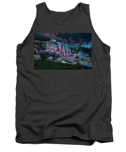 Tank Top featuring the photograph Banff Springs Hotel by John Poon