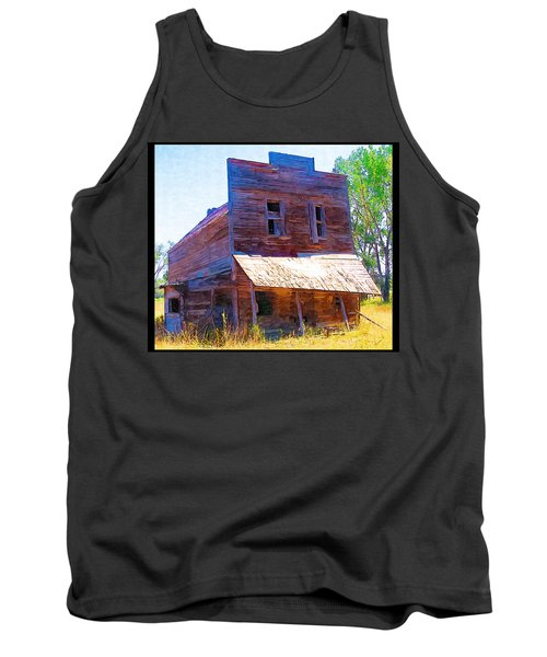 Tank Top featuring the photograph Barber Store by Susan Kinney
