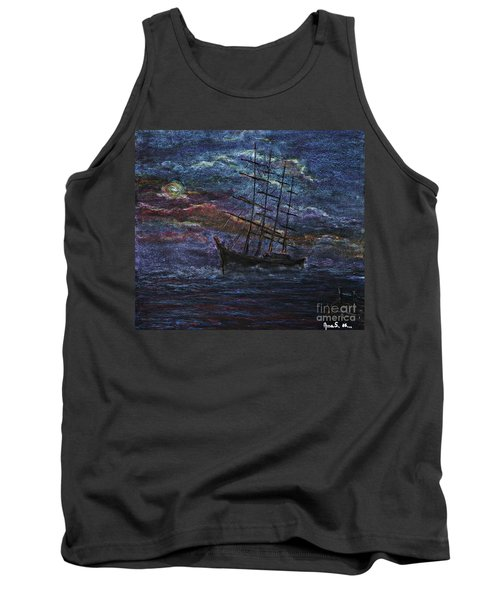 Barco Negro- Tribute To Amalia Rodrigues Tank Top by AmaS Art