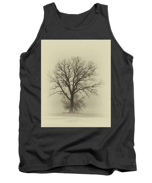 Bare Tree In Fog- Nik Filter Tank Top
