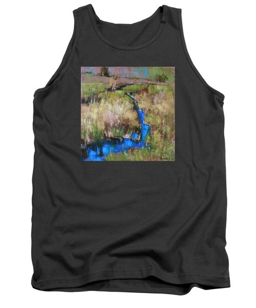 Tank Top featuring the painting Barefoot In The Dew  by Anastasija Kraineva