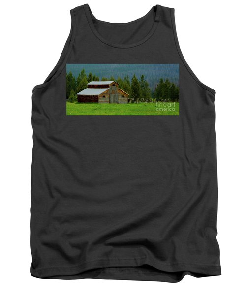Barn In Rocky Mtn National Park Tank Top by John Roberts