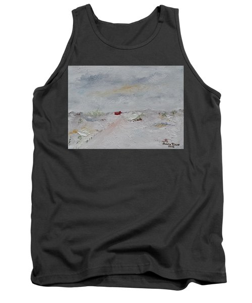 Tank Top featuring the painting Barn In Winter by Judith Rhue