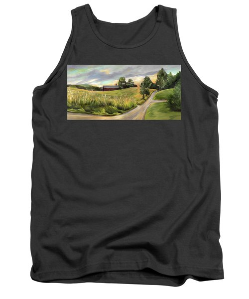 Barn On The Ridge In West Newbury Vermont Tank Top