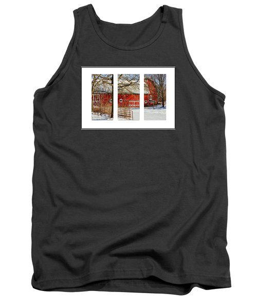 Barn Triptych Tank Top by Pat Cook