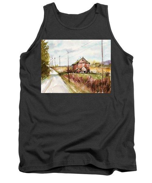Barns And Electric Poles, Sunday Drive Tank Top by Judith Levins