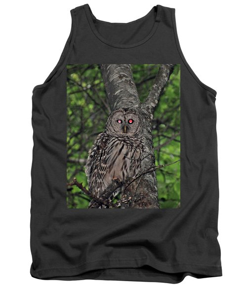 Tank Top featuring the photograph Barred Owl 3 by Glenn Gordon
