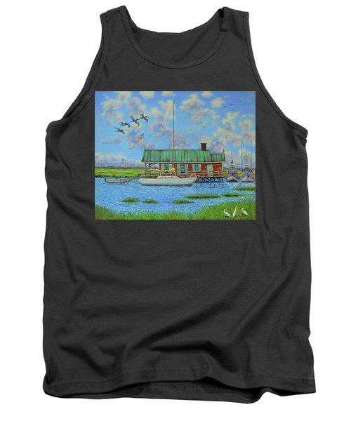 Barriar Island Boathouse Tank Top by Dwain Ray
