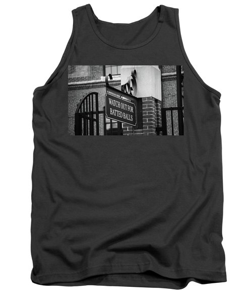 Baseball Warning Bw Tank Top