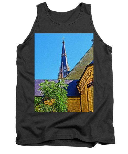 Basilica Of The Sacred Heart Notre Dame Tank Top by Dan Sproul