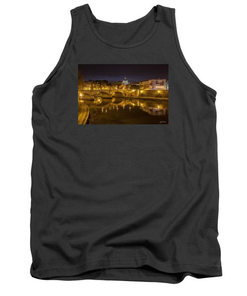 Tank Top featuring the photograph Basilica Over The River Tiber by Ed Cilley