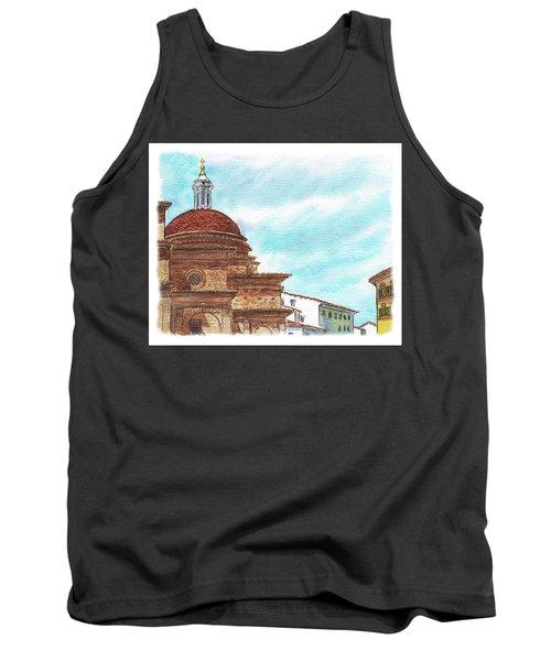 Tank Top featuring the painting Basilica San Lorenzo Florence Italy by Irina Sztukowski