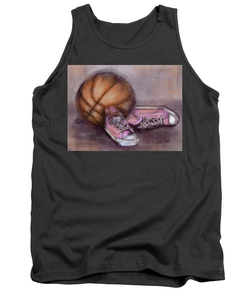 Basketball And Pink Shoes Tank Top