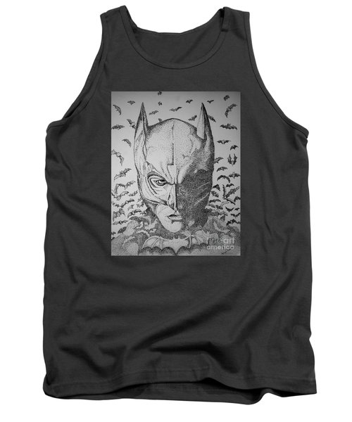 Tank Top featuring the drawing Batman Flight by Tamyra Crossley