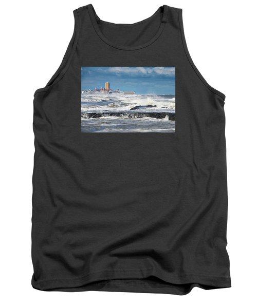 Battering The Seawall At Shark River Inlet Tank Top by Gary Slawsky