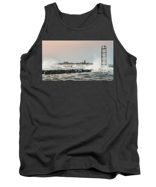 Battering The Shark River Inlet Tank Top by Gary Slawsky