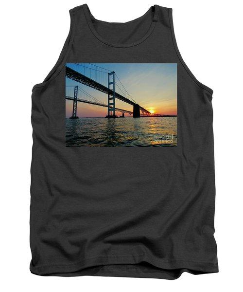 Bay Bridge At Sunset  Tank Top