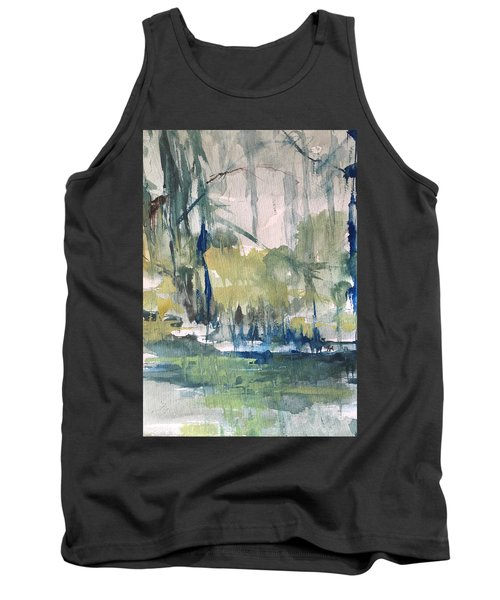 Bayou Blues Abstract Tank Top by Robin Miller-Bookhout