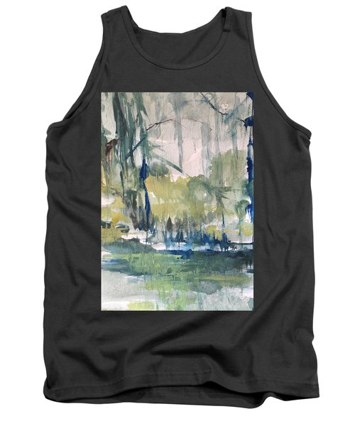 Bayou Blues Abstract Tank Top