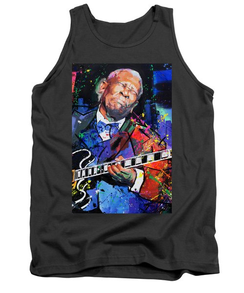 Tank Top featuring the painting Bb King Portrait by Richard Day