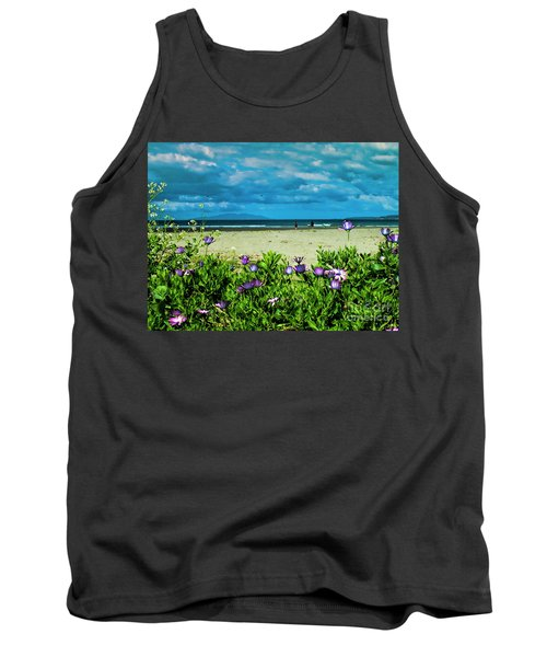 Beach Daisies Tank Top by Karen Lewis