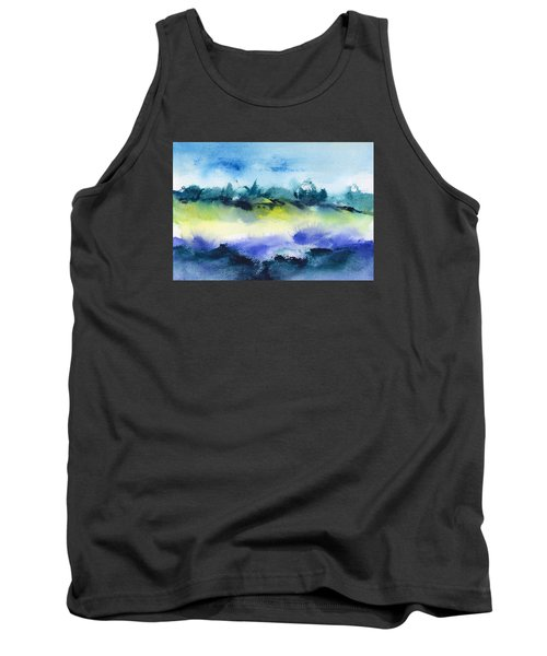Beach Hut Abstract Tank Top by Frank Bright