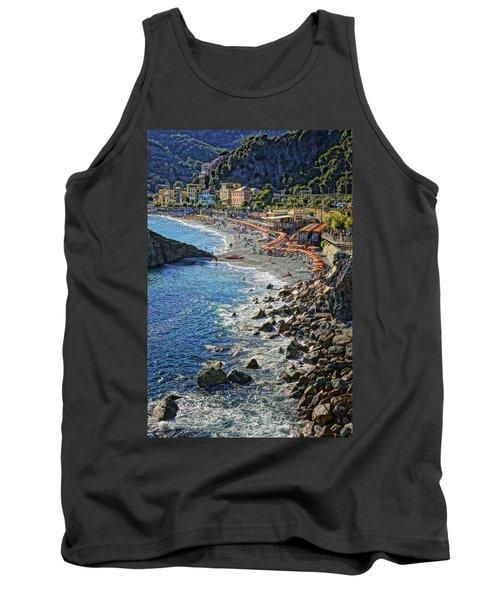 Beach Monterosso Italy Dsc02467 Tank Top