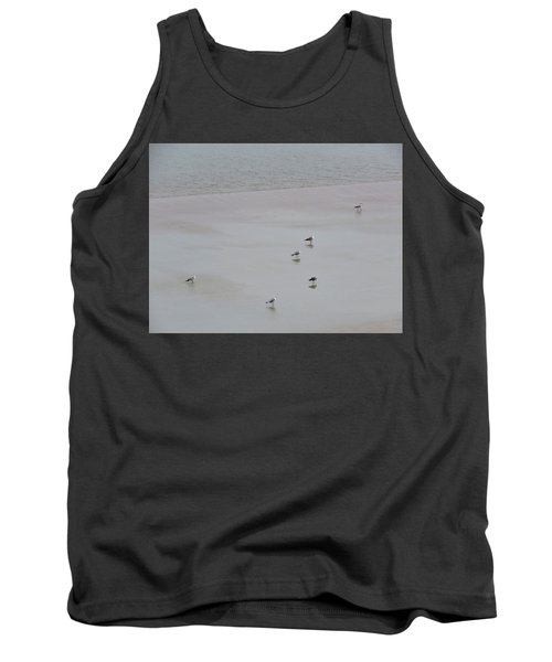 Beach Seagulls Tank Top by Kathy Long