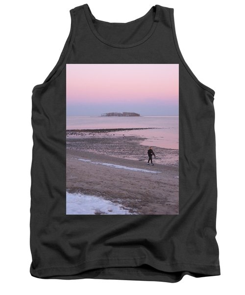 Tank Top featuring the photograph Beach Stroll by John Scates