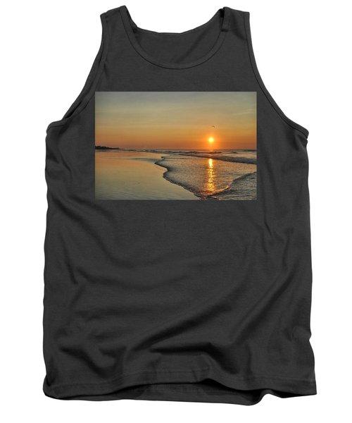 Topsail Nc Beach Sunrise Tank Top