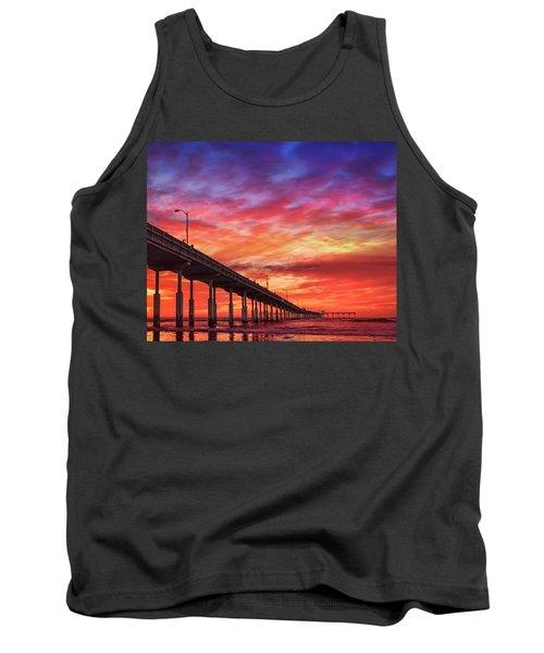 Beach Sunset Ocean Wall Art San Diego Artwork Tank Top