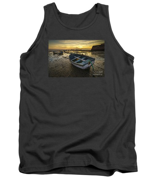 Beached Boat On La Caleta Cadiz Spain Tank Top by Pablo Avanzini