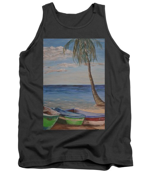 Tank Top featuring the painting Beached by Debbie Baker