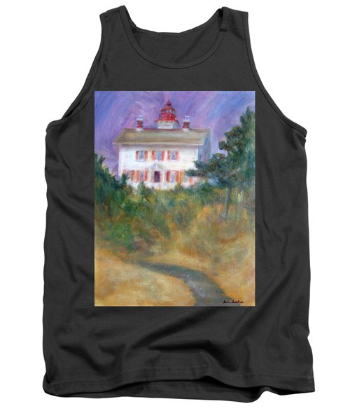 Beacon On The Hill - Lighthouse Painting Tank Top