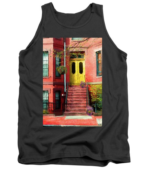 Beantown Brownstone With Yellow Doors Tank Top