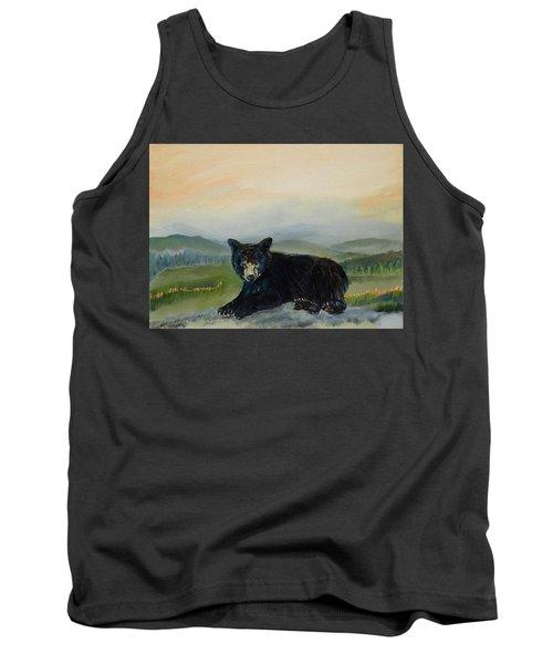 Bear Alone On Blue Ridge Mountain Tank Top
