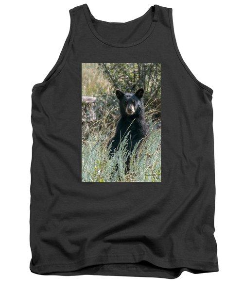 Bear Cub At Waterton Canyon Tank Top by Stephen  Johnson