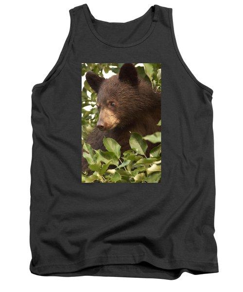 Bear Cub In Apple Tree1 Tank Top by Loni Collins